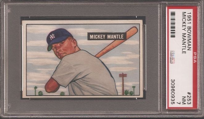 Mantle Bowman RC PSA